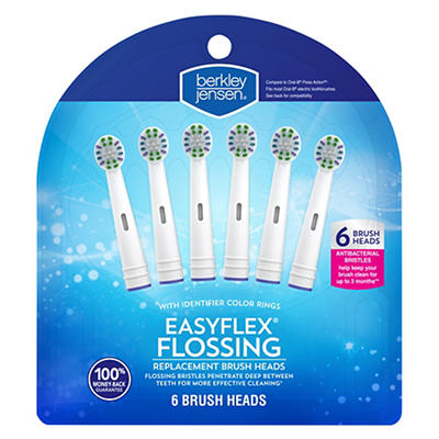 Berkley Jensen Easy Flex Flossing Replacement Brush Head, 6 pk.