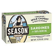 Season Wild Caught and Sustainable Fish Sardines, 10 pk./4.375 oz.