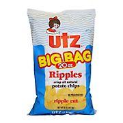 Utz Big Bag Ripple Potato Chips, 20 oz.
