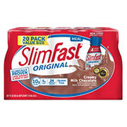 SlimFast Meal Replacement Shakes with High Protein, 20 pk./11 oz. - Chocolate