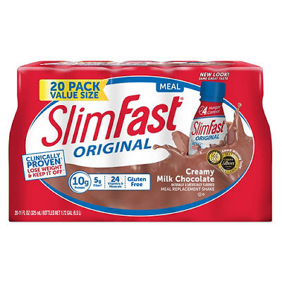 SlimFast Meal Replacement Shakes with High Protein, 20 pk./11 oz. - Ch