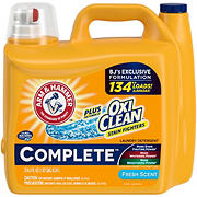 Arm & Hammer Complete Liquid Detergent with Oxi Clean, 1.67 gal.134 Loads