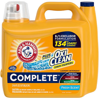 Arm & Hammer Complete Liquid Detergent with Oxi Clean, 1.67 gal.