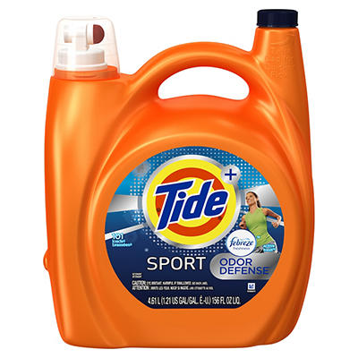Tide Plus Febreze Sport Odor Defense Active Fresh HE Liquid Laundry De