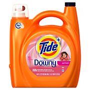 Tide Plus Downy April Fresh HE Liquid Laundry Detergent,156 fl. oz.