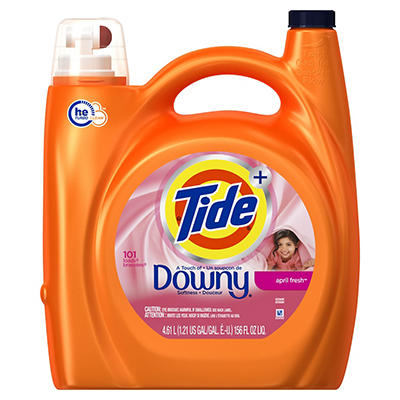 Tide Plus Downy April Fresh HE Liquid Laundry Detergent,156 fl. oz.
