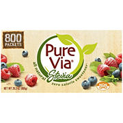 Pure Via Stevia Sweetener, 800 ct.