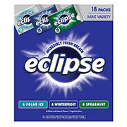 Eclipse Sugar-Free Gum Mint Variety Pack, 18 pk./18 ct.