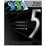 5 Gum Sugar-Free Mint Variety Pack, 15 ct.