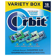 Orbit Sugar-Free Gum Mint Variety Pack, 18 pk./14 ct.