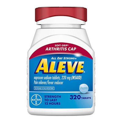 Aleve Pain Reliever with Arthritis Cap, 320 ct.
