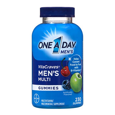 One A Day Men's VitaCraves Multivitamin Gummies, 230 ct.