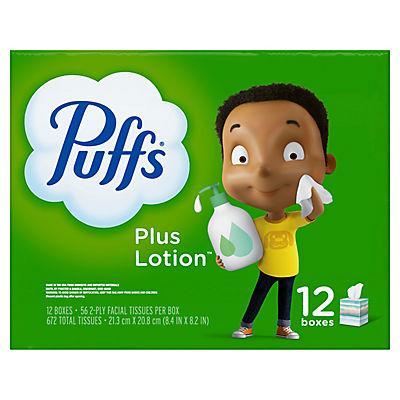 Puffs Plus Lotion Facial Tissues, 672 sheets