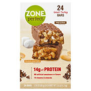 ZonePerfect Protein Bar Fudge Graham and Chocolate Peanut Butter Bars, 24 ct.