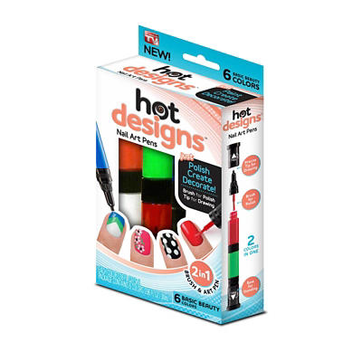 Hot Designs Two-Sided Nail Art Pens, 6 pk.