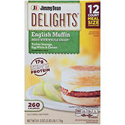 Jimmy Dean Delights Frozen Turkey Sausage, Egg White & Cheese English Muffin Sandwiches, 12 ct.