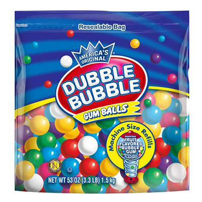 Dubble Bubble Gum Ball Refills, 53 oz.
