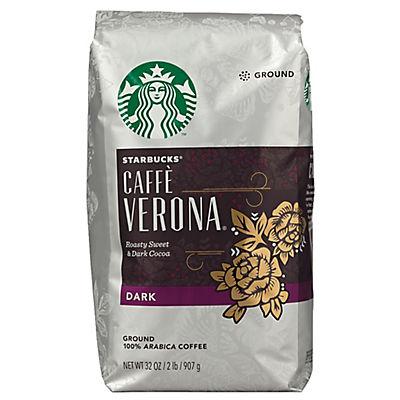 Starbucks Cafe Verona Dark Roast Ground Coffee, 32 oz.