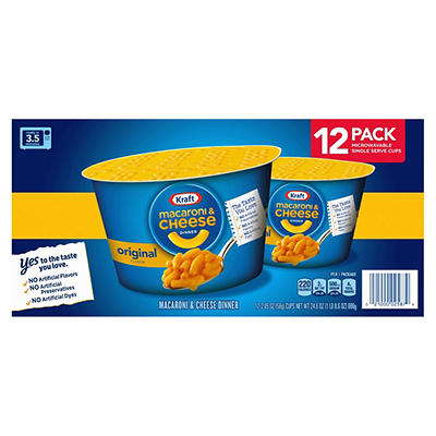 Kraft Macaroni & Cheese Cups, Original Flavor, 12 ct.