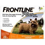 Frontline Plus For Small Dogs, 3 Applications