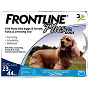 Frontline Plus For Medium Dogs, 3 Applications