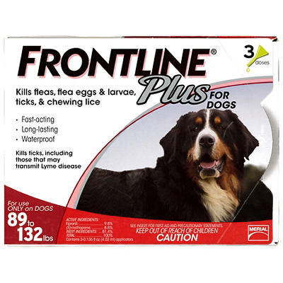 Frontline Plus For Extra Large Dogs, 3 Applications