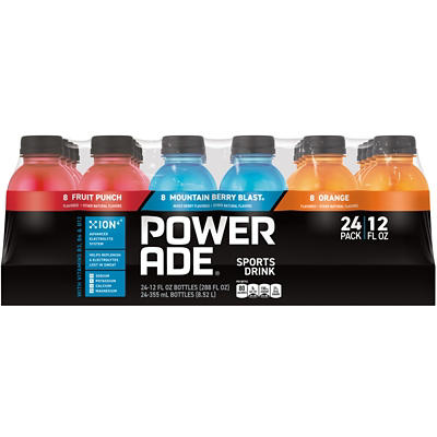 Powerade Sports Drink Variety Pack, 24 ct./12 oz.