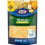 Kraft Shredded Cheese, Mexican Style Four Cheese, 2 pk./16 oz.