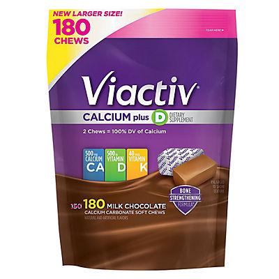 Viactiv Milk Chocolate Calcium Plus Vitamin D Chews, 180 ct.