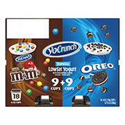 YoCrunch Vanilla Yogurt with M&M & Oreo Variety Pack, 18 pk./6 oz.