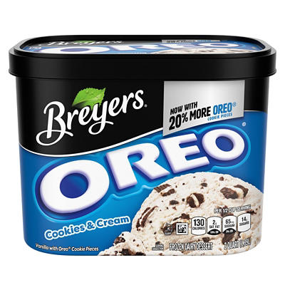 Breyers Blasts! Oreo Cookies & Cream Ice Cream, 64 oz.