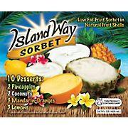 Island Way Low Fat Fruit Sorbet Variety Pack, 10 ct./3.47 fl. oz.