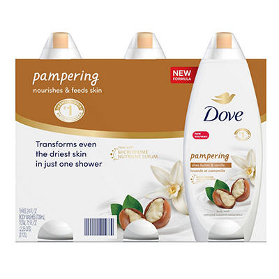 Dove Purely Pampering Shea Butter & Warm Vanilla Body Wash, 3 pk./24 o