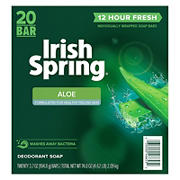 Irish Spring Aloe Bar Soap, 20 ct./3.75 oz.