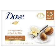 Dove Purely Pampering Shea Butter Beauty Bar, 16 ct./4 oz.