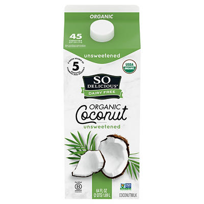 So Delicious Dairy Free Organic Unsweetened Coconutmilk Beverage, 0.5