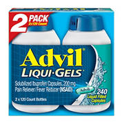 Advil Liqui-Gels, 2 pk./120 ct.