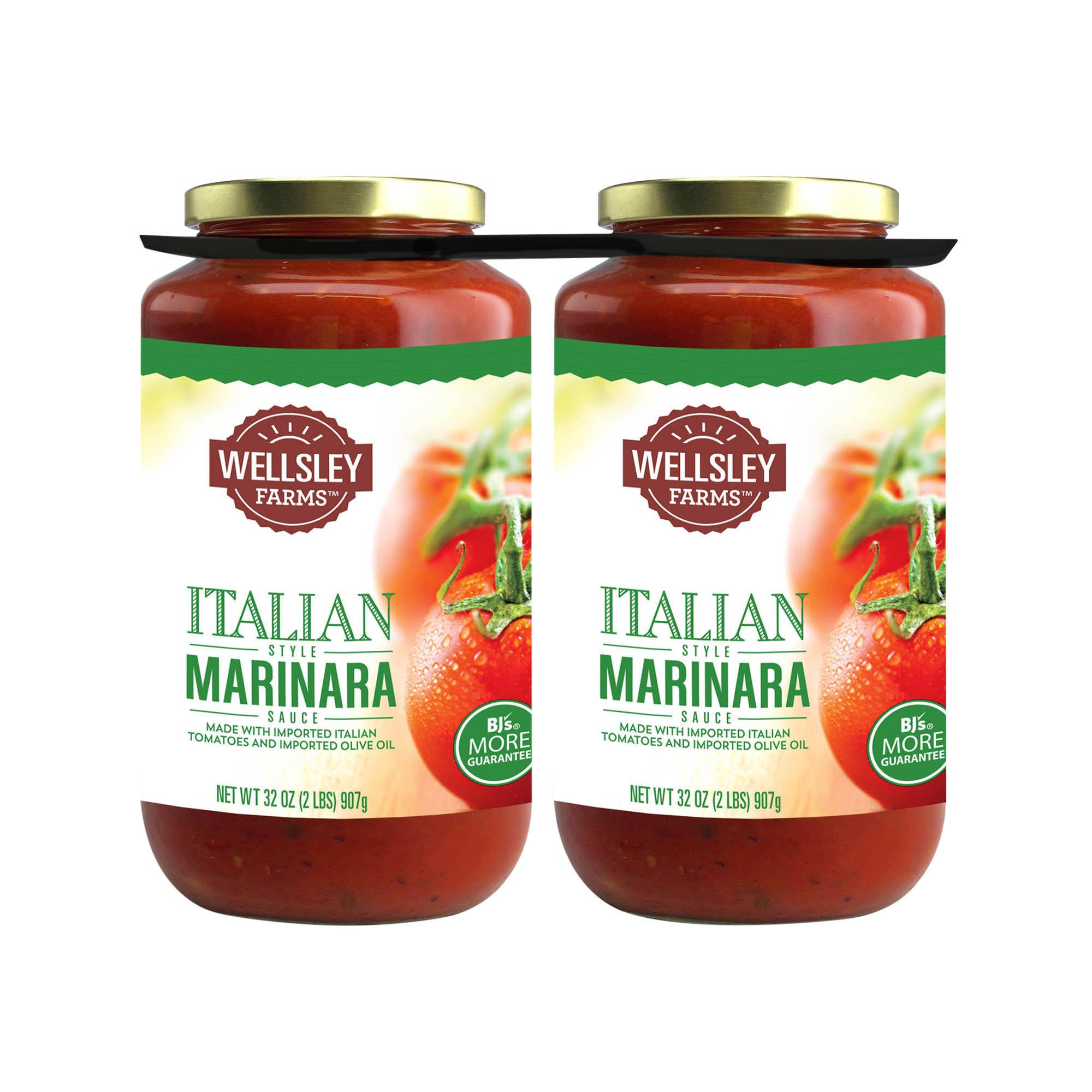 Wellsley Farms Marinara Sauce, 2 pk /32 oz  – BJ's Wholesale