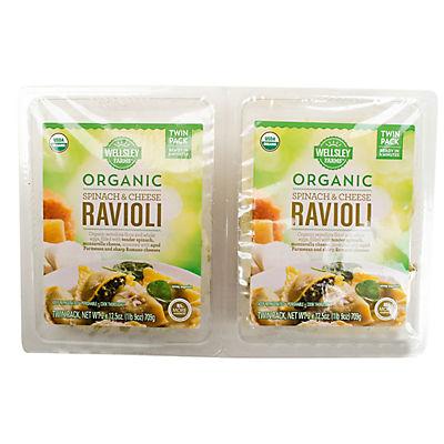 Wellsley Farms Organic Spinach Ravioli, 25 oz.