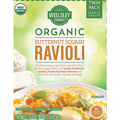 Wellsley Farms Organic Butternut Squash Ravioli, 28 oz.