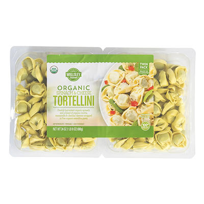 Wellsley Farms Organic Spinach and Cheddar Tortellini, 24 oz.