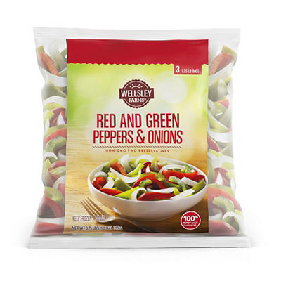 Wellsley Farms Red and Green Peppers & Onions, 3.75 lbs.