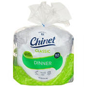 "Chinet 10"" Eco-Friendly White Fiber Plates, 165 ct."