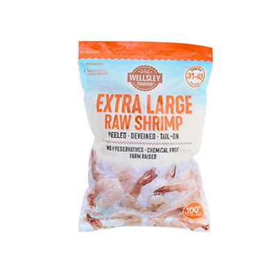 Wellsley Farms Extra Large Uncooked Shrimp, 2 lbs.