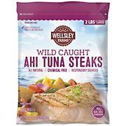 Wellsley Farms Wild-Caught Ahi Tuna Steaks, 2 lbs.