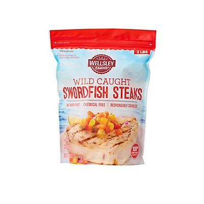 Wellsley Farms Wild-Caught Swordfish Steaks, 2 lbs.