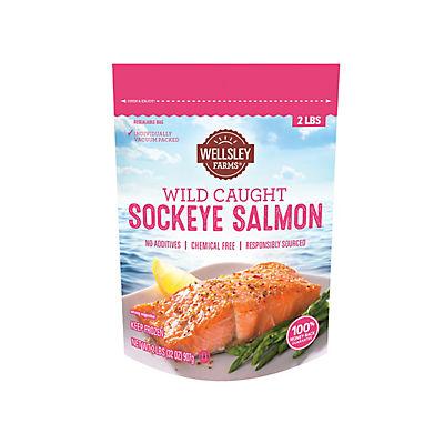 Wellsley Farms Wild Caught Sockeye Salmon, 2 lbs.