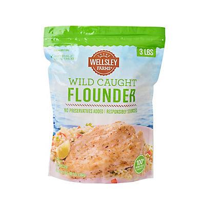 Wellsley Farms Wild-Caught Flounder, 3 lbs.
