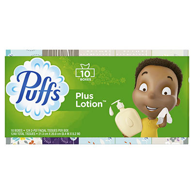 Puffs Plus Lotion Facial Tissues, 1,240 sheets