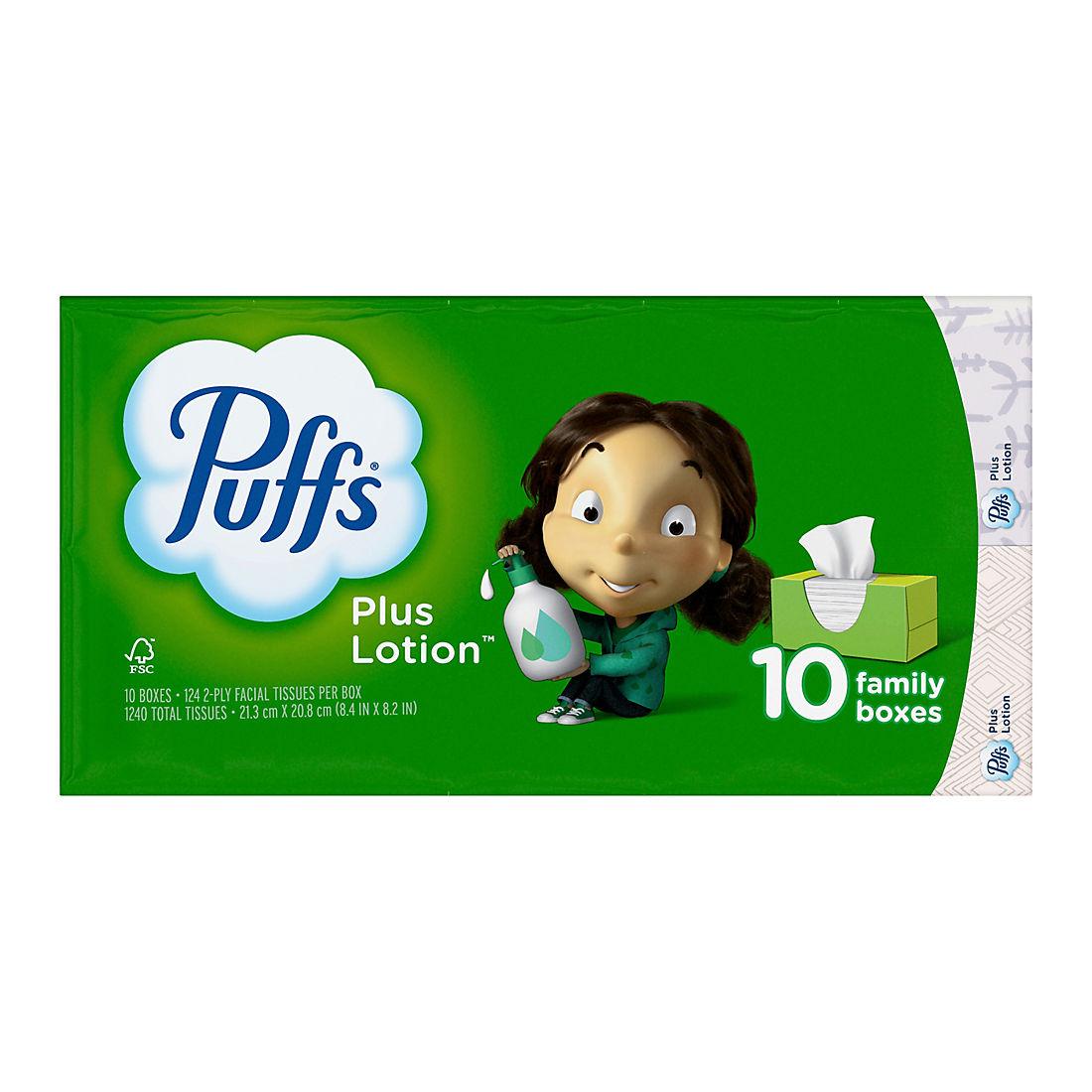 Puffs Plus Lotion Facial Tissues, 1,240 sheets